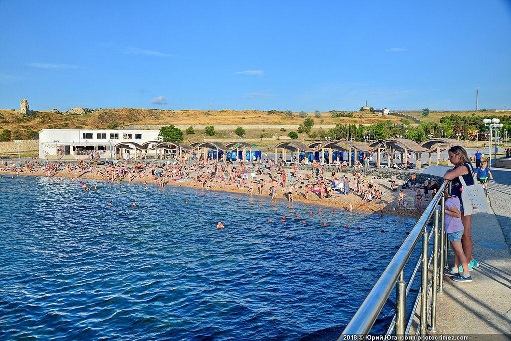 Севастополь. Лето. О пляже Солнечный. Негативо-позитивно