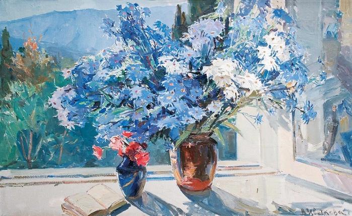Голубые ромашки», 1980-е (700x430, 426Kb)