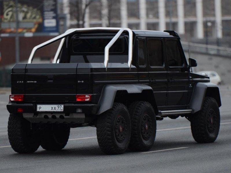 Третий автомобиль опять же с московской пропиской. 6x6, amg, g63, gelandewagen, mercedes-benz