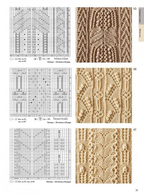 Большая книга японских узоров. Ажурные узоры. Часть 3