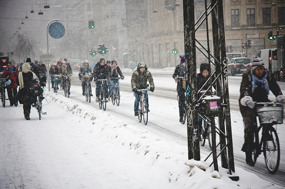 Советы для зимней езды на велосипеде