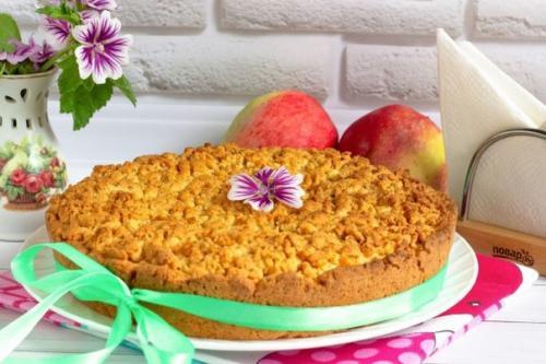 Яблочный пирог по-польски.