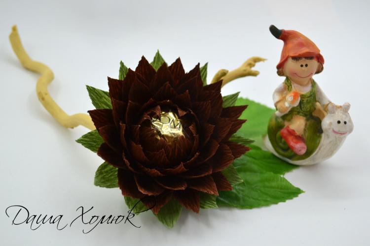 Мастер класс цветы из конфет и бумаги
