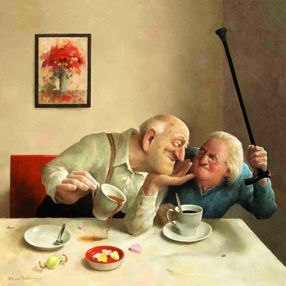 Когда старость в радость: оптимистичные работы голландского художника Marius van Dokkum, фото № 3