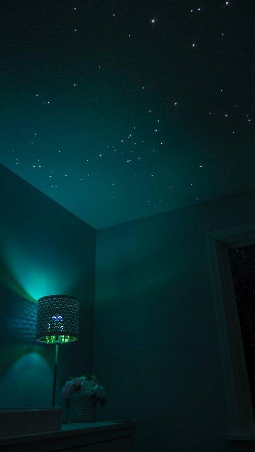 Спальня для дочери: звездное небо из оптоволокна