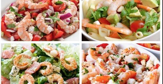 Что может быть вкуснее? 6 вариантов салата с креветками
