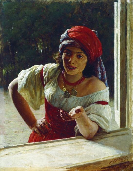 «Портрет цыганки». Автор: Н. Ярошенко.