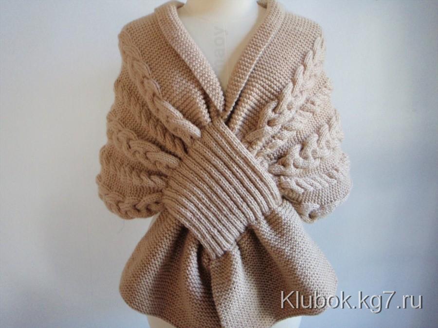 Необычный шарф-накидка