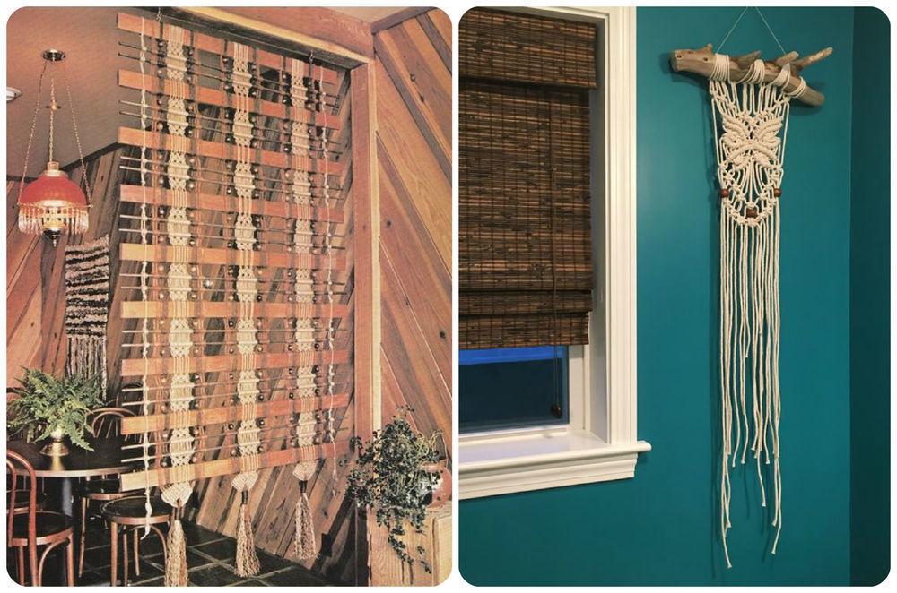 Макраме в интерьере: 75 идей для вдохновения для дома и дачи,интерьер,макраме