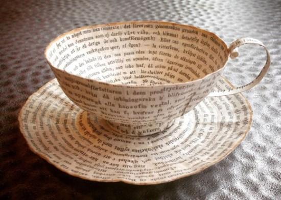 Техника бук-арт или кретивная посуда из бумаги от Сесилии Леви бук-арт,вдохновляемся