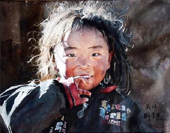 Ребенок в курточке. Автор: Liu Yunsheng.