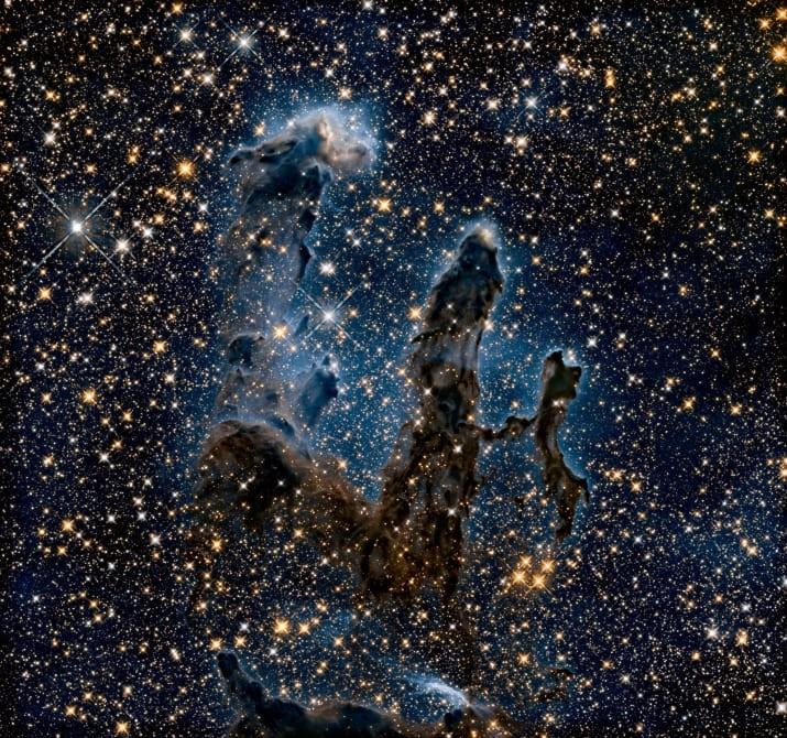 """""""Столпы творения"""" - протозвезды в туманности Орел, снятые в инфракрасном свете ТУМАННОСТИ, звезды, космический телескоп, космос, необычно, планеты, снимки, фото"""