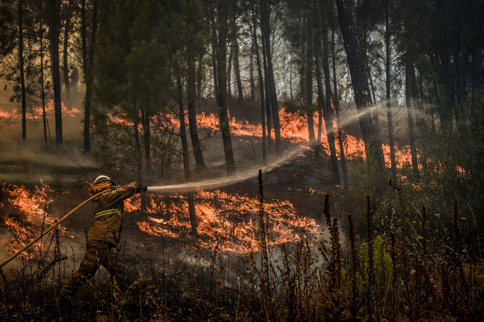 Пожарные на работе