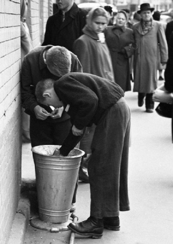 Собиратели окурков. Москва, 50-е история, люди, мир, фото
