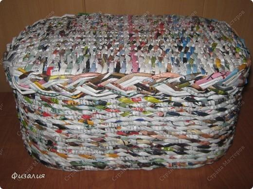 Украшение интерьера Плетение: Шкатулка для рукоделия- 17 Бумагажурнальная, Картон, Коробки, Поролон Отдых. Фото 1