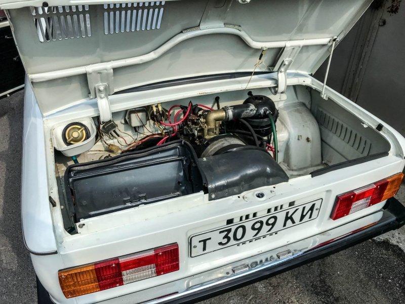 С этим мотором максимальная скорость авто составляет 118 км/ч ЗАЗ 968, авто, автомобили, заз, запорожец, капсула времени, ретро авто, янгтаймер