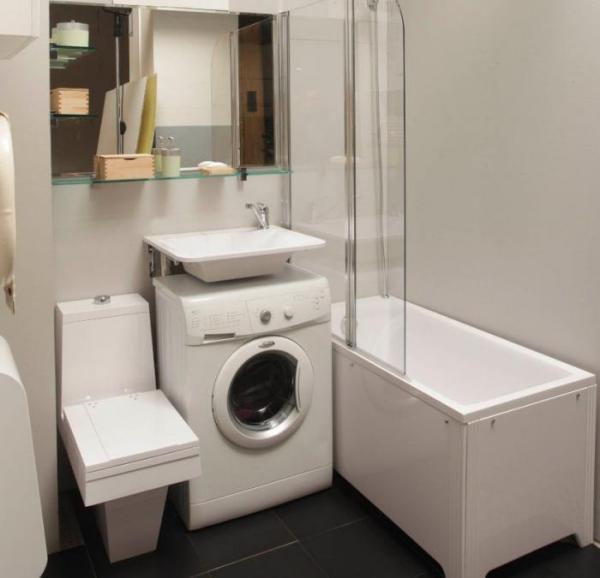 Варианты расположения стиральной машинки, если в ванной для этого не хватает места идеи для дома,интерьер и дизайн