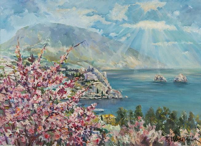 Весна в Крыму. Цветет барбарис. 1997 (654x475, 363Kb)