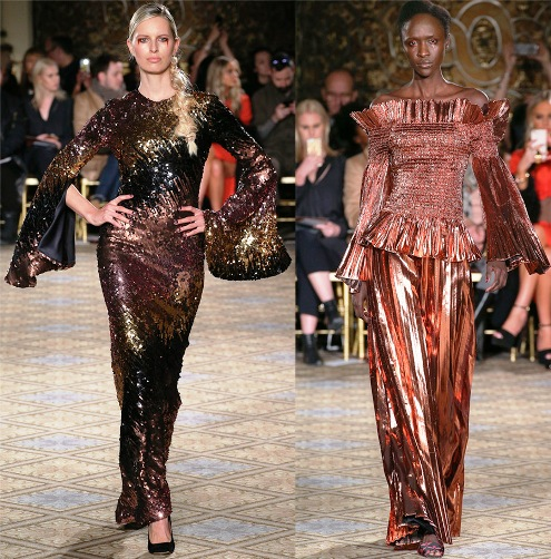 Праздничные платья 2018 — сверкающие модели из различных коллекций