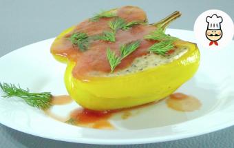 Закусочные перцы с рикоттой и тапенадой