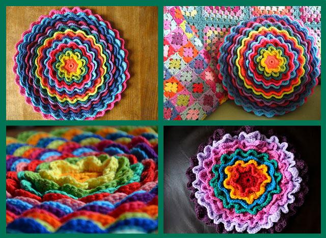 вязание крючком в технике цветение