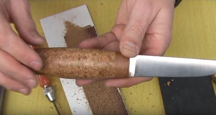 Рукоятка для ножа из винных пробок своими руками