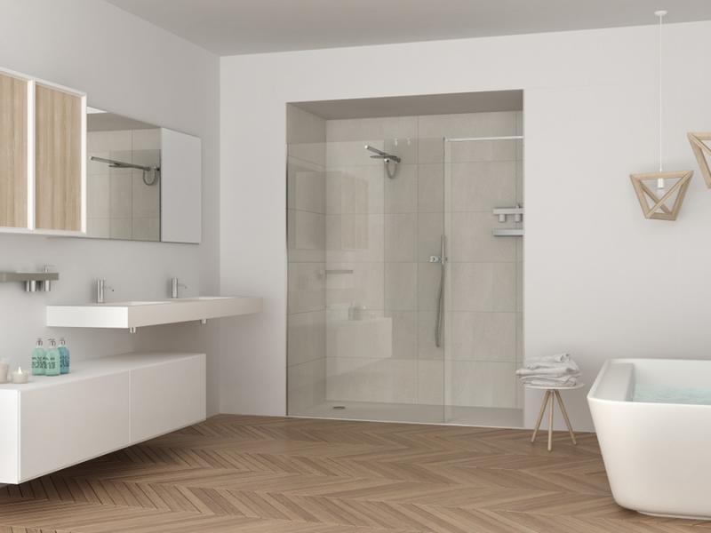 деревянные полы в ванной комнате