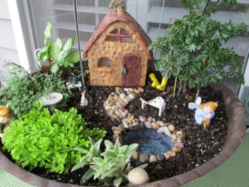 Создание мини-садов своими руками в горшках