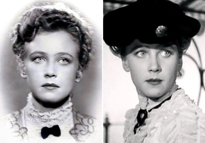 Ия Саввина в своем первом фильме *Дама с собачкой*, 1960 (24 года)   Фото: kino-teatr.ru, kinootziv.com