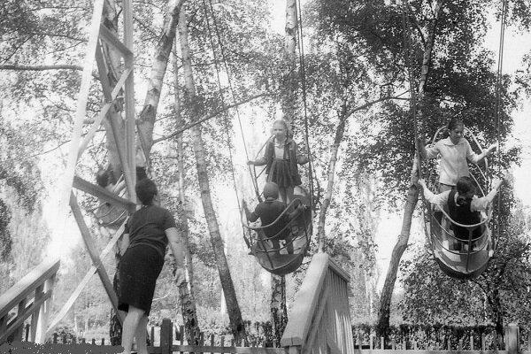 """11. """"Качели"""" СССР, парковые аттракционы, советские аттракционы, фото"""