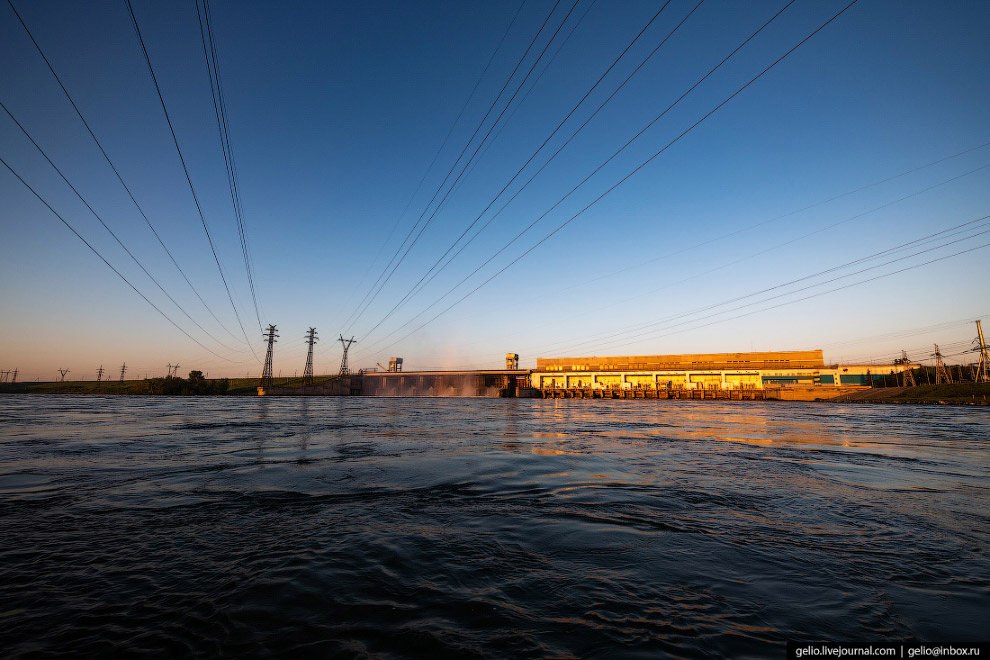 Новосибирская ГЭС в объективе