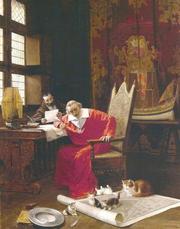 Кардинал Ришелье обожал кошек