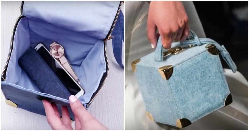 Превратите старые джинсы в трендовую сумку