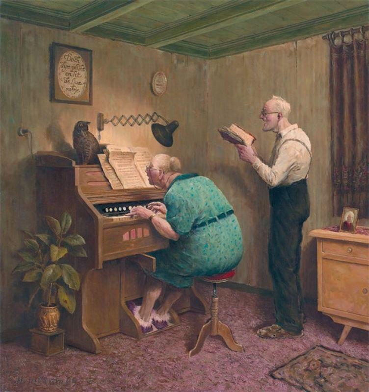 Когда старость в радость: оптимистичные работы голландского художника Marius van Dokkum, фото № 4