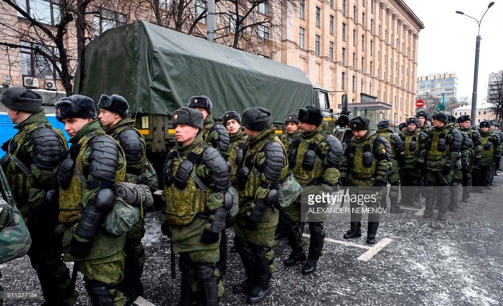 Навальный арестован, в России уличные протесты. (фото).