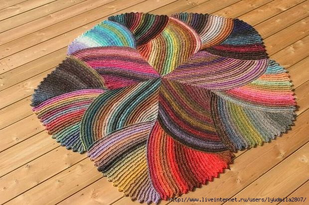 Необычный и причудливый коврик