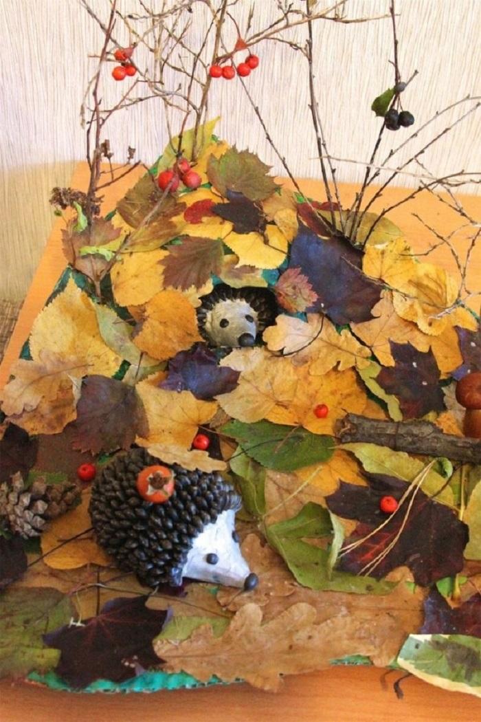 своему картинки поделок осень из природного материала ваша вера искренняя