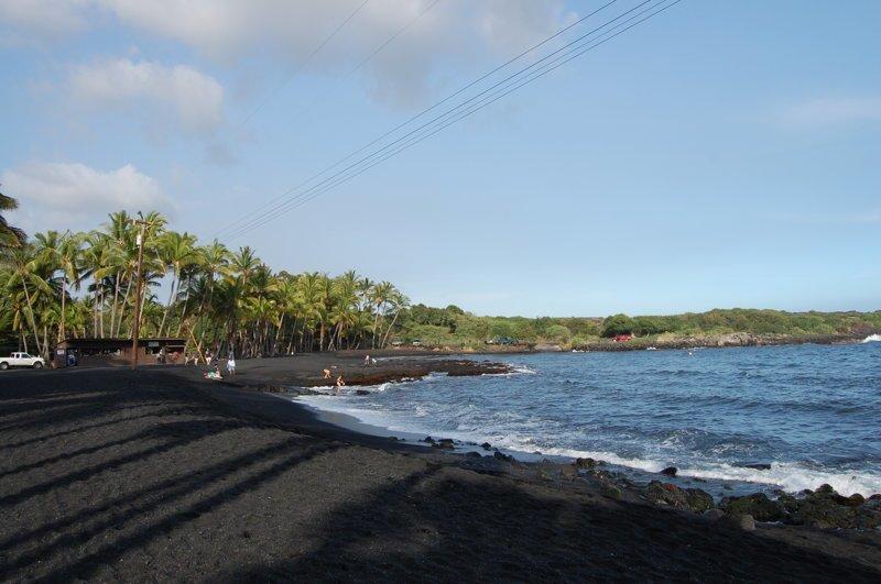 Пляжи с черным инфернальным песком америка, вулканы, гавайи, пейзажи, природа, путешествия