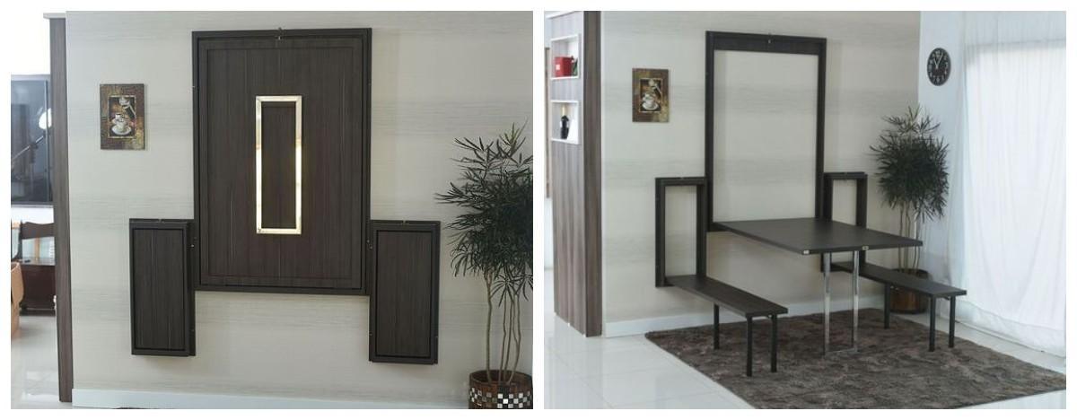 Откидная, выдвижная, складная: эргономичная мебель для маленького дома идеи для дома,интерьер и дизайн