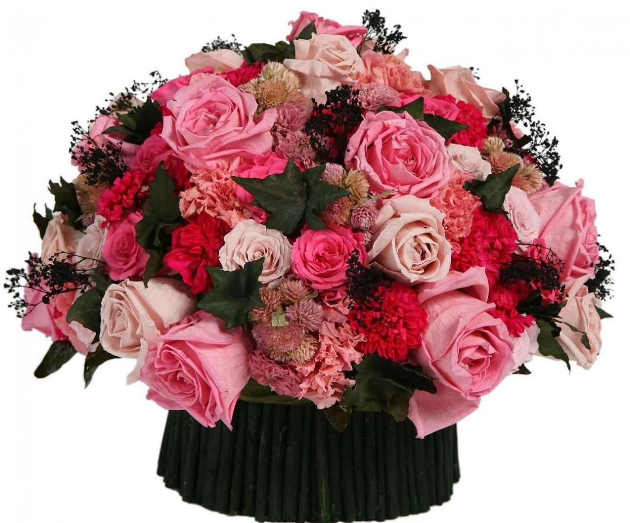 Открытки для, открытка цветы букет с днем рождения