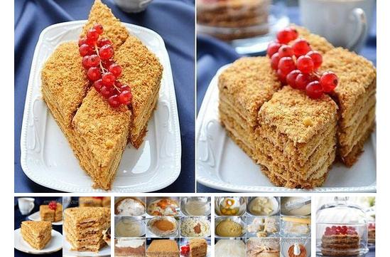 Медовик:  Попробуйте этот безумно-вкусный, очень нежный, тающий во рту торт…