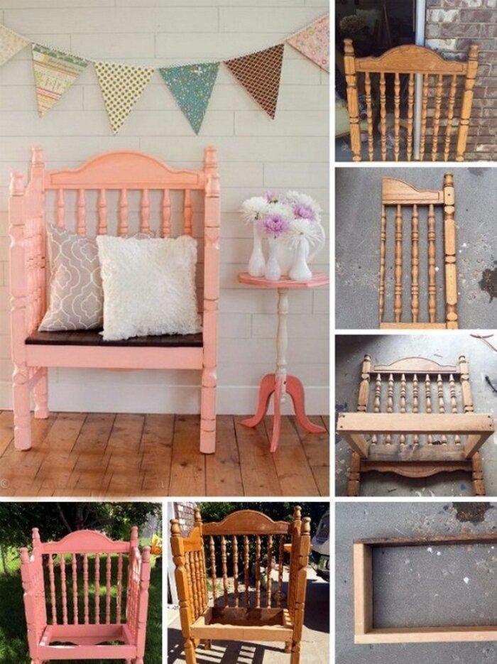 Креслице из нескольких спинок и старого стула до и после, идея, мебель, ремонт, своими руками, фантазия