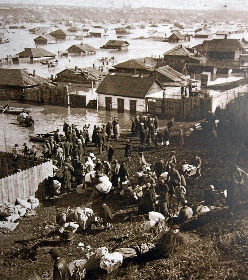 1928 Ðаводнение на Луговых иÑториÑ, ретро, фото