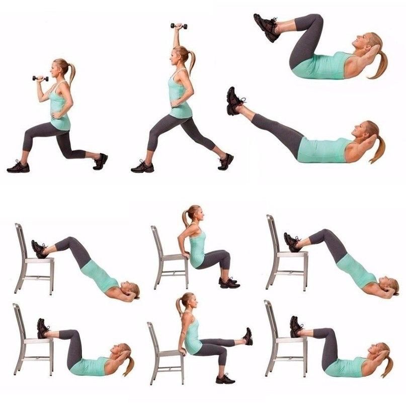 Упражнения Похудения Фото Урок. Простые упражнения для красивой фигуры, которые можно выполнять дома