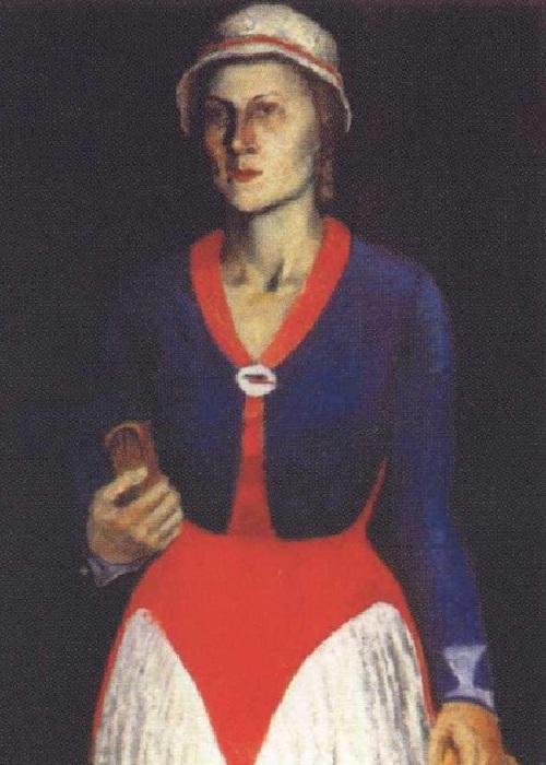 Софья Рафалович- жена художника. Автор: Казимир Малевич