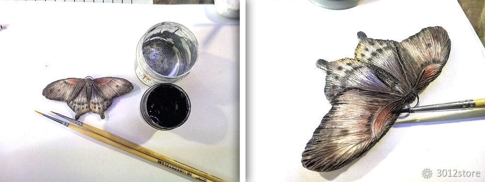 Процесс создания мотылька из полимерной глины мотылька, можно, немного, очень, сделать, лески, сделала, мотылек, мотыльков, помощью, глину, глины, постепенно, использовать, рисунок, усики, больше, кусочек, Можно, процесс