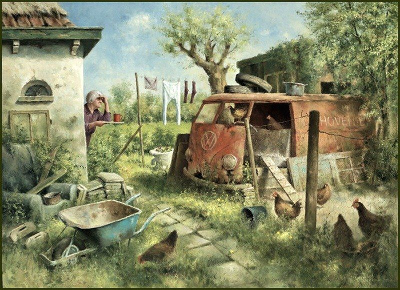 Когда старость в радость: оптимистичные работы голландского художника Marius van Dokkum, фото № 22