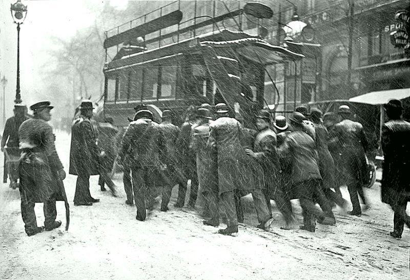 Автобус в Париже (1908) Весь Мир в объективе, ретро, старые фото