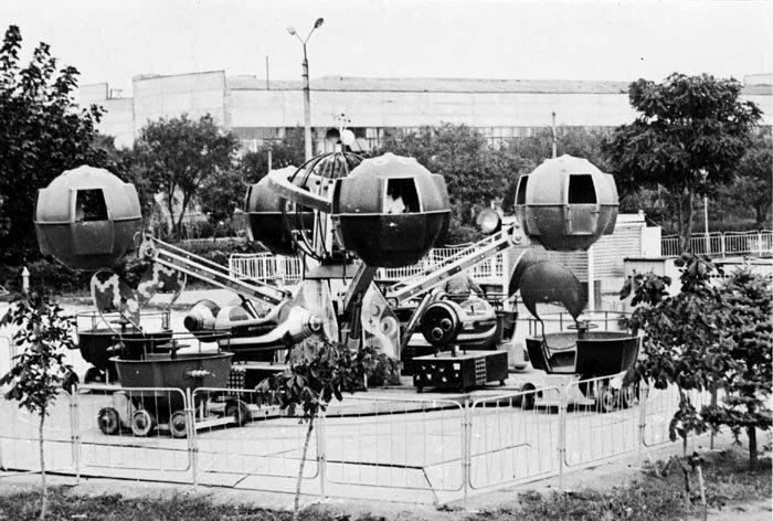 7. СССР, парковые аттракционы, советские аттракционы, фото