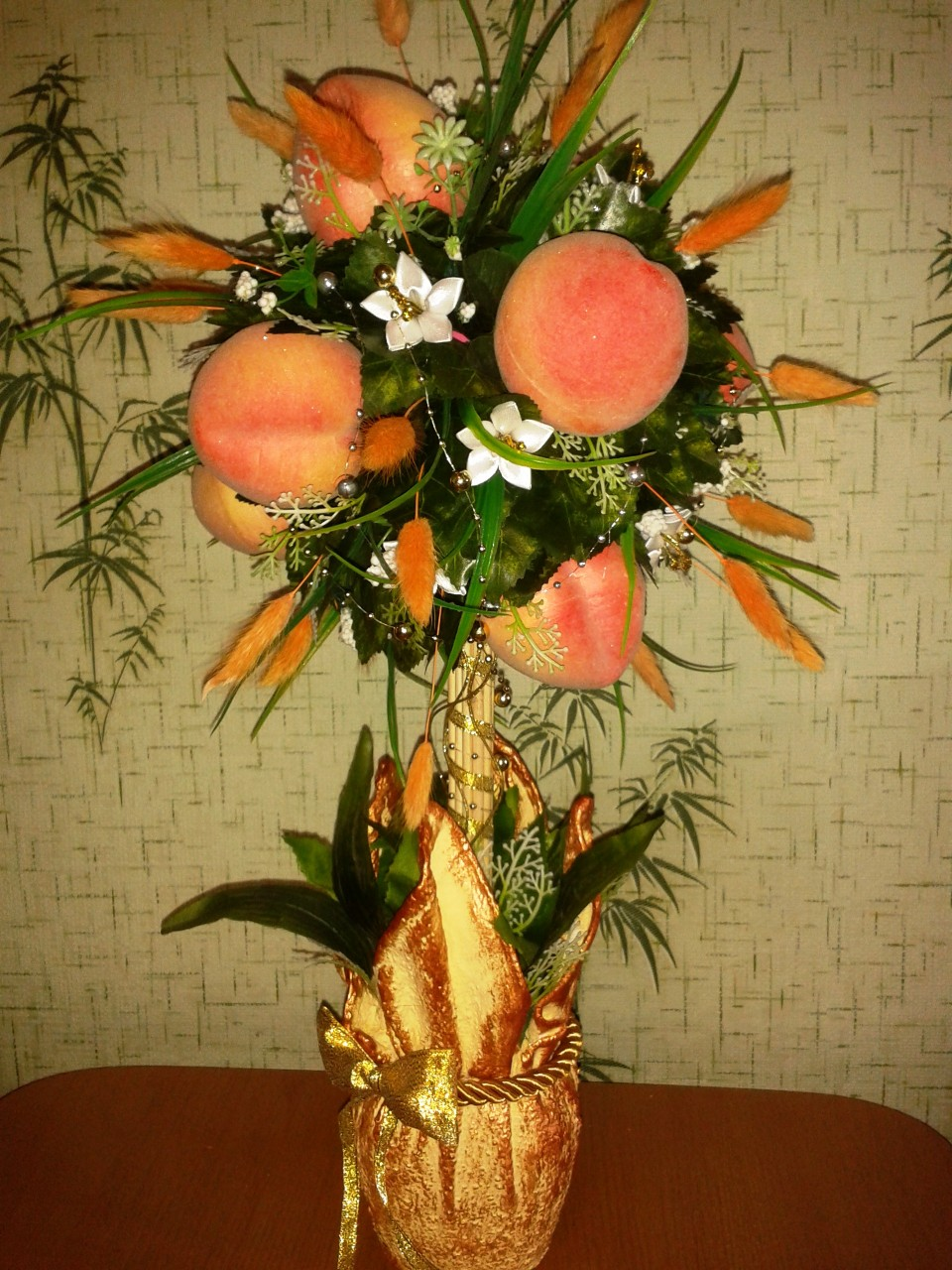 Мой персиковый топиарий
